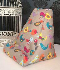 Colourful Bird Design Cushion Pillow Beanbag Bean Bag Suits Ipad, Books Tablets