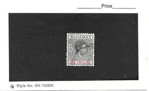 Bahamas 1938 George VI 1/- Black & Red Single Fine Used