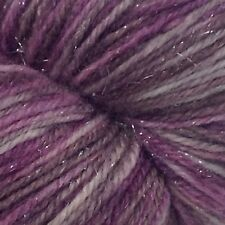 Chocolate Raspberry Extravayarnza Yarn Satin Spa Merino Silk Nylon Silver 420yds
