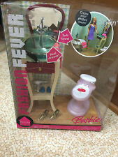 Barbie Doll Fashion Fever Mirror Vanity Stylin Sink Toilet Bathroom Furniture