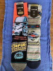 Stance Star Wars Trooper Crew Socks LARGE 40th Anniversary, Predecessor NWT 2 Pr