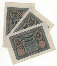 More details for 1920 germany 100 mark   bank notes   close numbers   pennies2pounds