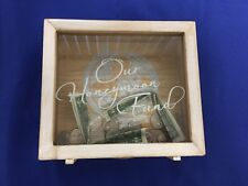 Wedding Honeymoon Fund Wood Money Collection Box Decoration