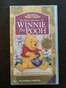 Winnie the Pooh - The Many Adventures of -Walt Disney Classic Collection VHS PAL