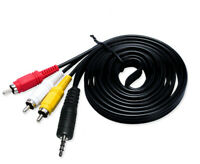 1.5m AUX 3.5mm to 3 RCA Male Audio Video DVD HDTV AV Cord Cable Adapter TV Plug