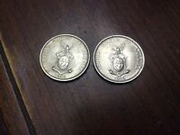 Lot Of 2 1945 S PHILIPPINES Fifty Centavos United States of America Silver Coin
