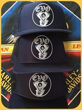 EVO Evolution engine motor V twin navy snap back trucker cap hat mesh harley hd1