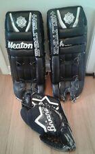 "Heaton Helite III Goalie Leg Pads 29"" with Brians Goalie Glove"