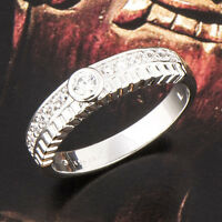 Stylish 18K White Gold Plated Clear clear crystal Stone Unisex Wedding Ring 8
