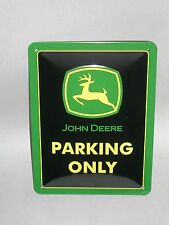 JOHN DEERE PARKING ONLY. Blechschild 15x20. Traktor Bulldog Schlepper Neu
