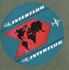 Airline luggage label  Interflug  ................................... #805