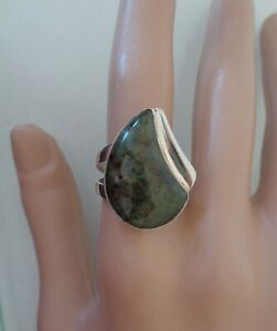 JAY KING DTR Signed, Sterling 925 Stamped, Natural Stone Ring, Size 8.5.
