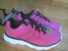 GIRL DANSKIN NEON HOT PINK w/ BLACK LACES Sneakers Shoes NWT 1