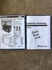 Snap On Tools Kwik Way Ya282 Brake Lathe Instuction And Parts Manual