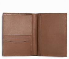 NEW Coach Calf Leather Passport Case Wallet F93604 in Dark Saddle $125
