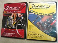 Spinervals 21.0 Aero Base Builder IV & 25.0 V Indoor Cycling DVD lot