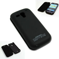 2000MAH BACKUP BATTERY CHARGER EXTENDED POWER CASE COVER BLACK GALAXY S III MINI