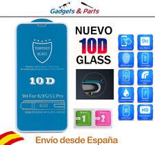 "Protector Pantalla iPhone XS 5.8"" Blanco 10D Premium AA++ Cristal Templado"