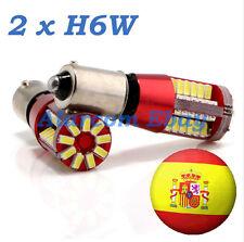 2 x Bombillas 57 LED 3014 SMD BAX9S H6W CANBUS Posicion Blanco Puro Xenon #3010