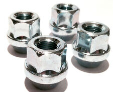 4 x alloy wheel open nuts lugs bolts M12x1.25, 19mm Hex, Tapered Seat - Alfa