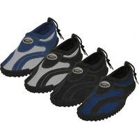 New Wave Mens Water Shoes/Aqua Socks/Pool Beach Surf Slip on Yoga Dance Exercise