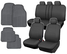 Gray Car Seat Covers & Rubber Floor Mats for Auto Heavy Duty Protection