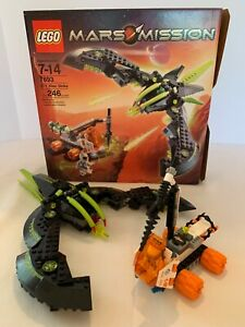 Lego Mars Mission 7693 Alien Strike & 7695 100% complete w/box,instructions