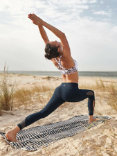 Athleta NWT Mesh Salutation 7/8 Ankle Tight M Tall MSRP $89 navy yoga run