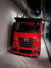 1/43 Mercedes Benz ACTROS 2007 Red Car Transporter Truck Burago Camion Bisarca