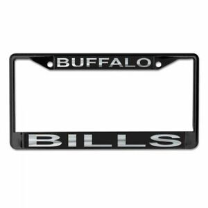 BUFFALO BILLS MIRRORED METAL LICENSE PLATE FRAME QUALITY DOMED GRAPHICS
