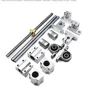 T8 3D Printer 8mm Lead Screw Threaded Rod CNC Trapezoidal With Brass Nut Kit