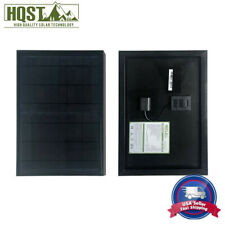 HQST 10W Watt Monocrystalline Solar Panel w/ USB Port Camping Battery Charger