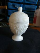 Vintage-Avon Collectible White Milk Glass Candy Dish-1960's-(E20)