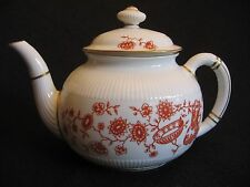 VICTORIAN ROYAL CROWN DERBY 'Haddon-Red' #2416 Fluted Teapot c.1887 SUPERB!!