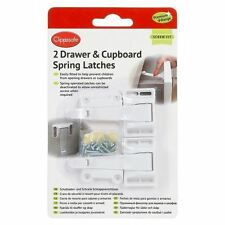 PREMIUM 2 DRAWER & CUPBOARD SPRING LATCHES LOCKS KIDS BABY EASY FITTING