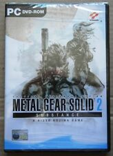 METAL GEAR SOLID 2 SUBSTANCE PERSONAL COMPUTER PC NUOVO