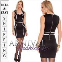 NEW SEXY BLACK CLUB DRESS 6 8 10 CLUBBING DRESSES XS S M womens clubwear online