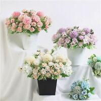 1pc Fake Bouquet Peony Flower Rose Artificial Hydrangea Hotel Wedding Home Decor