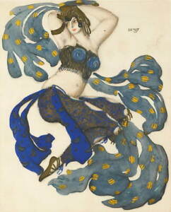 Leon Bakst An Odalisque Poster Reproduction Paintings Giclee Canvas Print