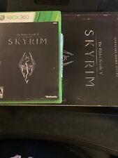 The Elder Scrolls V: Skyrim Xbox 360 W/Game Guide Combo Complete EUC Maps