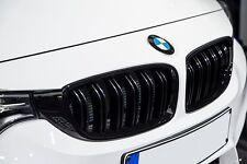 BMW 3 Series F30 F31 M3 Look Matte Black Kidney Euro Sport Front Hood Grill 12-