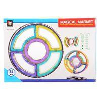34 Piece Magnet Tiles Magnetic Building Blocks For Kids Set - FAST SHIP!!!