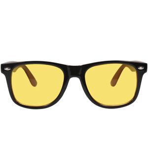 Computer Glasses Unisex Blocking Blue Light Ray UV400 Yellow Lens Night Vision