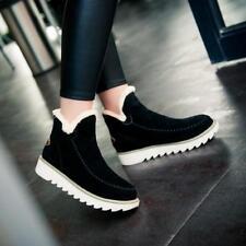 Women Winter Warm Snow Ankle Boots Hidden Wedge Heels Platform Casual Shoes FG