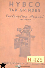 Hybco 700, 701 and 702, Tap Grinder Instructions and Parts Manual 1942