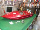 """""""Firecracker"""" HUGE 48"""" x 18 """" Enforcer Motor Vintage Huge 2 Stroke Gas RC Boat"""