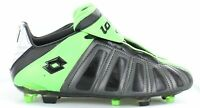 Lotto Youth Vento JR Soccer Cleat Black & Green Big Kid Size 5 US
