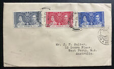 1937 Nicosia Cyprus First Day Cover FDC Coronation KGVI King George 6