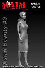 1/35 maßstab harz satz Asiatische Schönheit #3 weiblich figur set