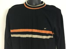 Vintage 80s Monte Carlo Sweater Mens Medium Size 40 Black Magna Wool